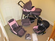 Pram,  buggy,  car seat + accessories