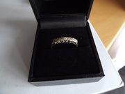 9ct gold diamonds ring sizeN