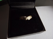 teenagers small 9ct gold diamonds wishbone ring size J