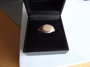 9ct rose  gold signet ring size N 1/2