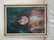 Wall picture portrait Mary (Crying Girl) by M. Basaldella reproduction