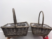 Hamper baskets and wood wool