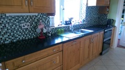 Getacore kitchen worktop plus double sink unit with taps