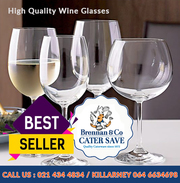 Bar supplies-High Quality Wine Glasses-Brennans Caterworld